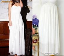 Белое платье купить, длинное белое платье с длинными прозрачными рукавами.